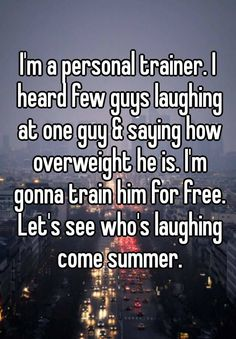 Whisper App. Confessions on personal trainers.