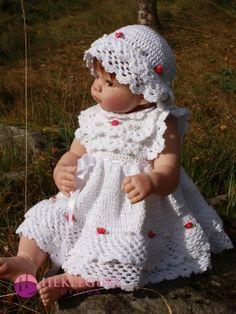 Ida kjolesett til dukker og baby. (PDF-hekleoppskrift) - Hekleguri Design Crochet Hats, Design, Fashion, Knitting Hats, Moda, Fashion Styles, Fashion Illustrations