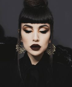 Jan 2020 - 〰 Add luxurious detail to any look with our Elaria Filigree Inca Earrings, seen here on regal Makeup Inspo, Makeup Inspiration, Beauty Makeup, Hair Makeup, Hair Beauty, Makeup Trends, Makeup Art, Dark Makeup Looks, Looks Dark