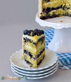 Tort cu lamaie si afine Romanian Food, Romanian Recipes, Blueberry Cake, Food Cakes, Lemon Curd, Nutella, Tiramisu, Cake Recipes, Cheesecake