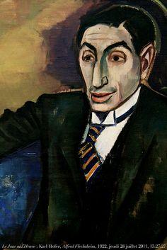 Le Jour ni l'Heure 8725 : Karl Hofer, 1878-1955, portrait, 1922, du marchand d'art et collectionneur Alfred Flechtheim, 1878-1937, musée de ...