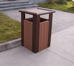 Outdoor safe trash cans