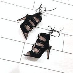 99a226dec6b60c Lace-up cutout sandals by Miss Selfridge