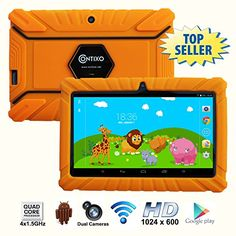 * BACK TO SCHOOL * Contixo Kids Safe 7″ Quad-Core Android 4.4 Tablet 8GB, Bluetooth, Wi-Fi and…