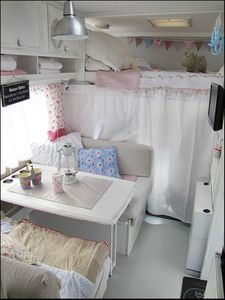 Great campervan interior. Toby says - boys version & colours would be better!