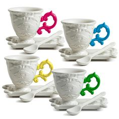 Teacup Set by Seletti. Traditional with a twist. I'd love a mixed set for tea with guests.