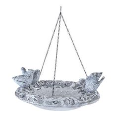 Hanging bird feeder with a warmly weathered finish.  Product: Bird bathConstruction Material: PolystoneCo...