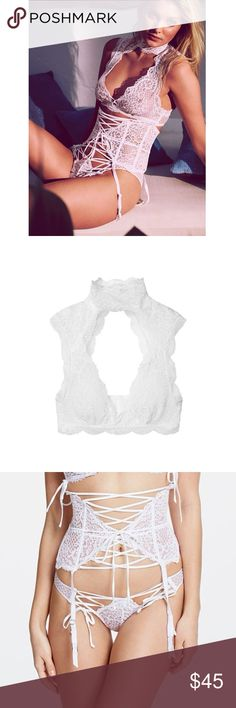 SET - VS High Neck Lace Bralette & Panty Medium bralette. Medium panty. NWT. Discounts on MULTI-ITEM purchases by request. Victoria's Secret Intimates & Sleepwear