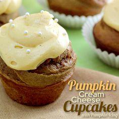 Pumpkin Cream Cheese Cupcakes