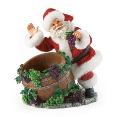 Department 56 Possible Dreams Wine Barrel Santa, 8.625-Inch -- Click image to review more details.