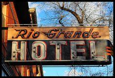 Rio Grande Hotel - Salt Lake City, Utah - Vintage Neon Sign