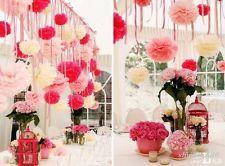 """1/10Pcs Tissue Paper POMPOMS Flower Balls Home Decor Party Wedding Favors 8"""""""