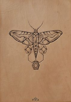 Pyrography on leather. Punctured Artefact www.puncturedartefact.com
