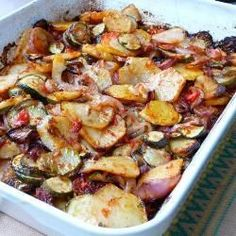 Briam (Greek potato and courgette bake)
