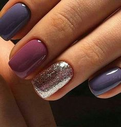 False nails have the advantage of offering a manicure worthy of the most advanced backstage and to hold longer than a simple nail polish. The problem is how to remove them without damaging your nails. Winter Nail Designs, Nail Art Designs, Nail Ideas For Winter, Winter Nail Art, Colorful Nail Designs, Shellac Nail Designs, Purple Nail Designs, Short Nail Designs, Cute Nails
