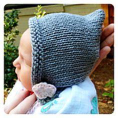 Knit Newborn Fairy Bonnet Free Pattern