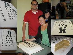 Optometry cake! Start contacting bakeries now!