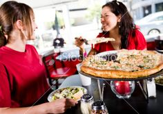 Eating Pizza Royalty Free Stock Photo
