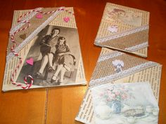 Nostalgiakortteja retrokuvalla ystävykset.