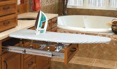 Optimizing Cabinet Space: Drawer Mounted Ironing Board