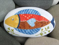 Hand Painted Cape Cod Beach Stone This by CoastalColorsCapeCod, $35.00