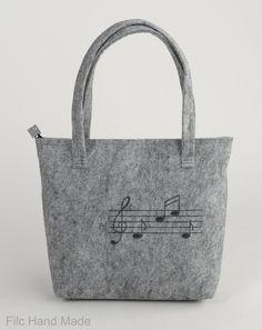 Women purse, Women felt bag, Felt totebag, Cat bag, Felt