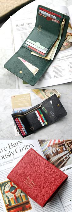 The Classic Genuine Leather Wallet is a well-made tri-fold wallet! The vivid color, many pockets, useful compartments and the handy size make me want this as my next wallet!