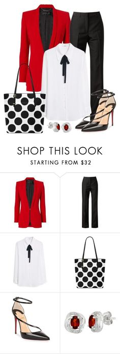 """Work wear"" by gallant81 ❤ liked on Polyvore featuring Barbara Bui, Maison Margiela, MANGO and Christian Louboutin"