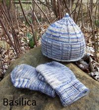Basilica Hat and Mittens (love the pointy hat!)