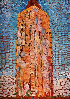 The lighthouse of Westkapelle by Piet Mondrian (1872-1944, Netherlands)