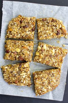 Raw Energy Bars - cut the junk - cut into bars and store wrapped in the oven paper inside sealed tupperware #snack #easy | hurrythefoodup.com