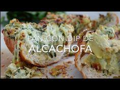 Pan con dip de alcachofa & espinaca (fácil & rápido)