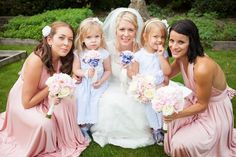 Pretty Pink Country Garden Wedding Flowergirls http://www.charlotterazzellphotography.com/