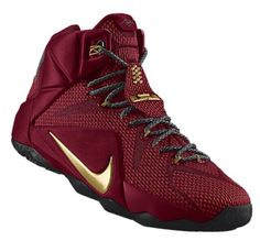 Lebron XII NikeID  Love the burgundy and gold but change the base to white