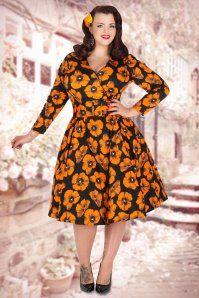 Lady Voluptuous Poppy Print Plussize Swing Dress 102 14 15484 1
