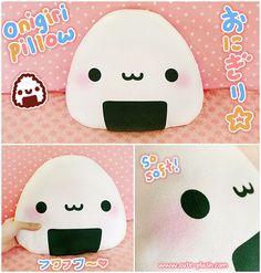 Onigiri pillow by QueenOfDorks on deviantART