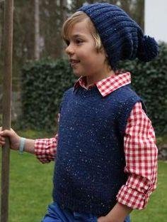 Kinderpullunder und Mütze, S8934 - Gratisanleitung: Designkombination für Kids. Die Kinderweste ist ideal um sie in Kombination mit der Mütze aus Schachenmayr original Northern zu tragen.