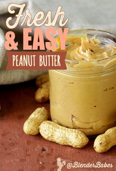 Fresh & Easy Peanut Butter #recipe via @BlenderBabes | Peanut butter is definitely an American staple, and when you can make it at home FRESH in minutes – inexpensively and without all the hydrogenated oils found in popular store brands – we have no doubt you will make this all the time!