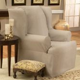 Found it at Wayfair - Cotton Duck Wing Chair Slipcover (T Cushion) - $32.24