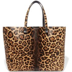 Victoria Beckham Simple Shopper leopard-print calf hair tote (€2.560) ❤ liked on Polyvore featuring bags, handbags, tote bags, animal print, leopard tote, leopard purse, tote purse, brown handbags and brown tote bag
