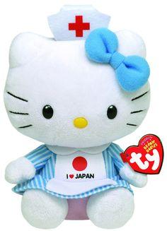 Ty Beanie Baby - Hello Kitty - I Love Japan - Free Shipping