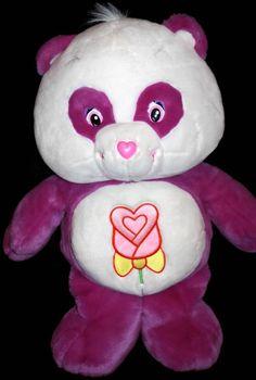 "Care Bears Jumbo Polite Panda Plush Purple White 28"" Soft Toy Stuffed 2005 #AllOccasion"