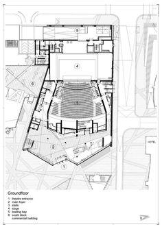 Media for Grand Canal Theatre Cultural Architecture, Amphitheater Architecture, Auditorium Architecture, Theatre Architecture, Auditorium Design, Hospital Architecture, Architecture Plan, Auditorium Plan, Architecture Models