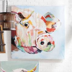 Handpainted Abstract Animals Oil Painting On Canvas Wall Pictures Modern Abstract Art For Living Room Decor Lovely Pig Pictutres Oil Painting Abstract, Abstract Canvas, Canvas Art, Painting Canvas, Large Canvas, Inspiration Art, Pig Art, Abstract Animals, Arte Pop