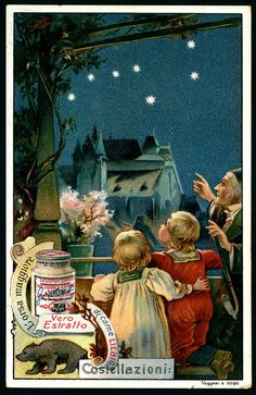 1903. Constellations (Ursa Major) trading card issued by Liebig Extract of Beef Company. S727.