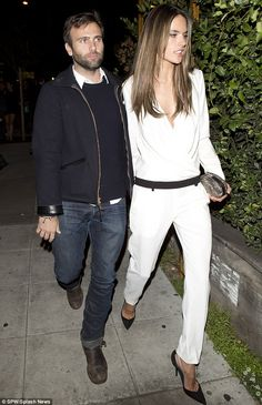 Coupled up: Victoria's Secret Model and mother of two young children, Alessandra Ambrosio and her fiance Jamie Mazur