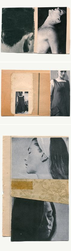 """cinematic cuts"" ~ collages by katrien de blauwer"