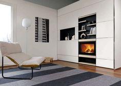 dcoration chemine encastre de design moderne - Salon Ultra Moderne