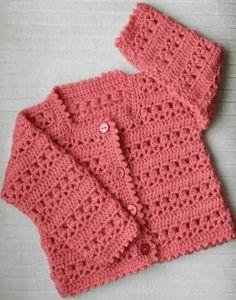 """free crochet baby girl cardigan patterns""的图片搜索结果"