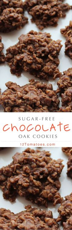 doesn't love to indulge in some sugar-free cookies? Try out this great dessert recipe today!Who doesn't love to indulge in some sugar-free cookies? Try out this great dessert recipe today! Sugar Free Deserts, Sugar Free Sweets, Sugar Free Cookies, Sugar Free Recipes, Baking Cookies, Cake Cookies, Tolle Desserts, Brownie Desserts, Great Desserts